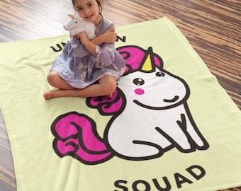 Unicorn Squad  Plush Fleece Blanket