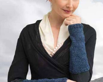 Claires Outlander Inspired Pursuit Of Craigh Na Dun Blue Arm Warmers MADE TO ORDER