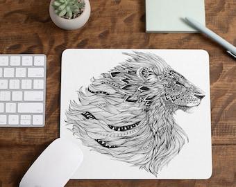 Tattooed Lion Mousepad