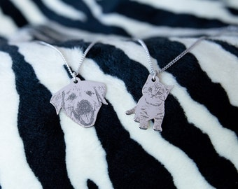 Personalized Animal Pet Silhouette Pendant