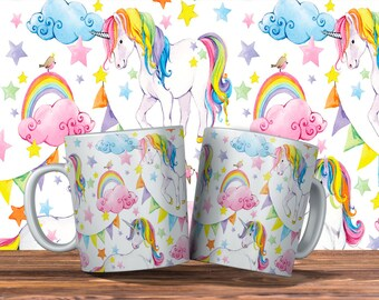 Three Colorful Unicorn Designs to Choose from Mug