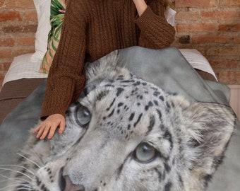 Leopard Big Cat Throw Blanket