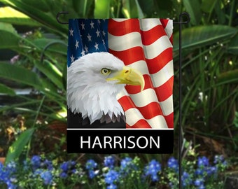 Personalized Eagle Flag Yard Flags