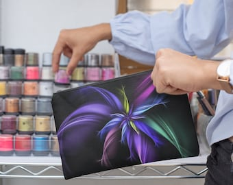 Fractal Art  Cosmetic  Accessory Pouch