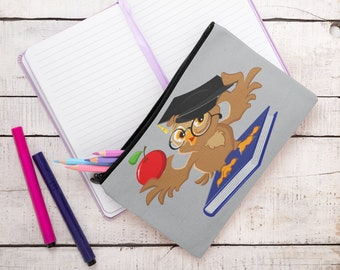 Owl of Knowledge Accessory Pouch Pencil Case