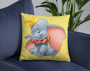 Animated Baby Elephant Spun Polyester Square Pillow