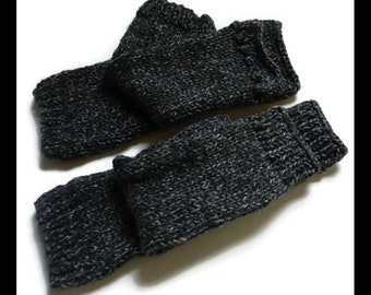 Claires Outlander Inspired Pursuit Of Craigh Na Dun Grey Arm Warmers Choice of two designs W5765 MADE TO ORDER