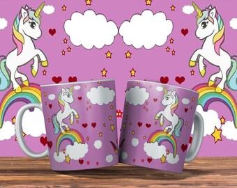 Unicorn Mugs Three Designs To choose From