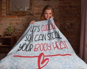 Lets Cuddle Throw Blanket Fleece Blanket