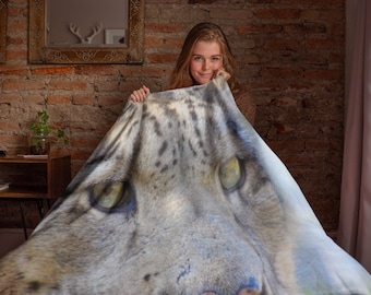 Big Cat Leopard Throw Blanket