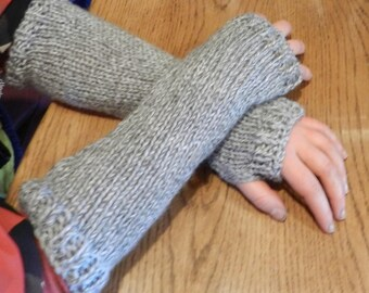Claires Outlander Inspired Pursuit Of Craigh Na Dun Grey Arm Warmers W5631 MADE TO ORDER