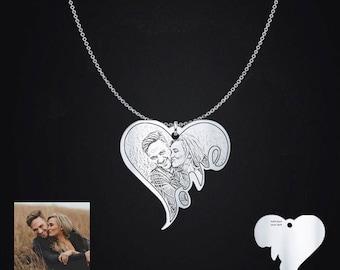 Love Photo Engraved Pendant