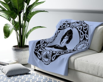 Outlander Inspired Sherpa Fleece Blanket Available in Four Colors