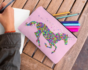 Colorful Horse Accessory Pouch Pencil Case