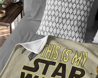 This is my Star Wars Watching Blanket  Cozy Plush Fleece Blanket - 50x60
