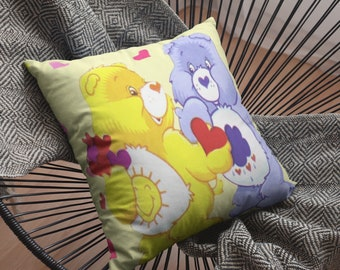 Bears Hearts and Sunshine Spun Polyester Square Pillow