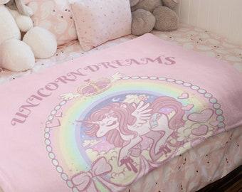 Unicorn Dreams  Plush Fleece Blanket