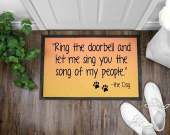 Ring the doorbell Indoor/Outdoor Floor Mats