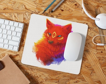 Painted Wolf Mousepad