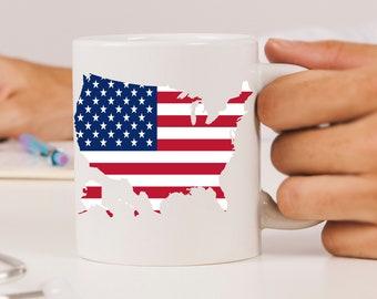 American Flag Ceramic Mugs
