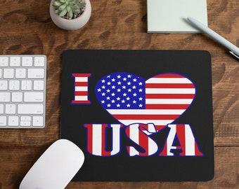 Black Love The Usa Mousepad