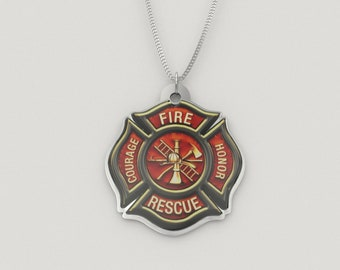 Fire Honor Courage Rescue Firefighter Necklace
