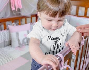 Mommys Little Hair Puller Fine Jersey Bodysuit