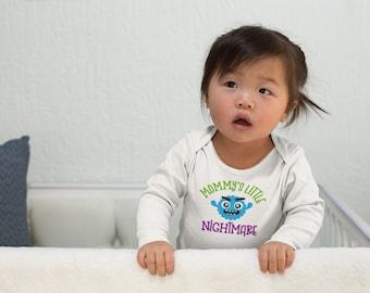 Mommys Little Nightmare Infant Long Sleeve Bodysuit