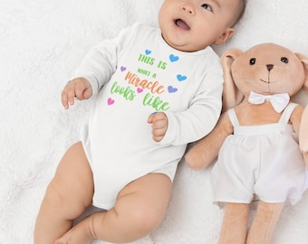 This is What A Miracle Infant Long Sleeve Bodysuit