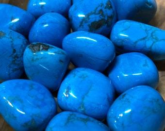 Blue Howlite Tumbled Stones / Communication / Peace / Memory