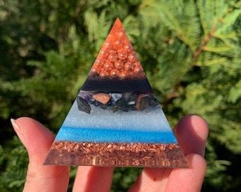 Copper Dreams Orgone Sacred Pyramid / Orgone Generator / Orgone Tools / Blocks EMF / Sacred Energy Tools