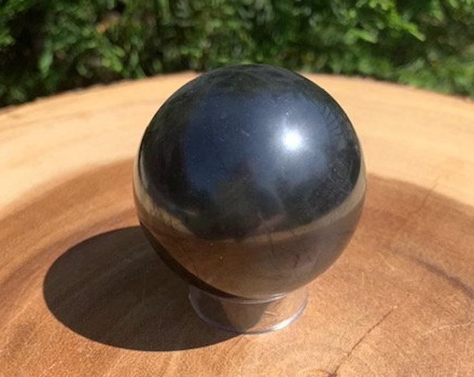 Medium Shungite Sphere 50mm / Clarity / Meditation Shielding / Grounding / Protective
