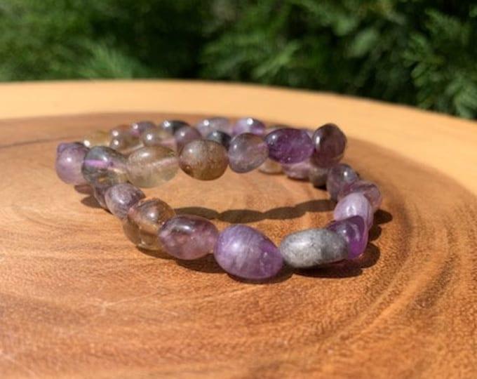 Super Seven Tumbled Nugget Bracelet / Healing / Enhancing / Amplification / Super 7 / Boho Jewelry