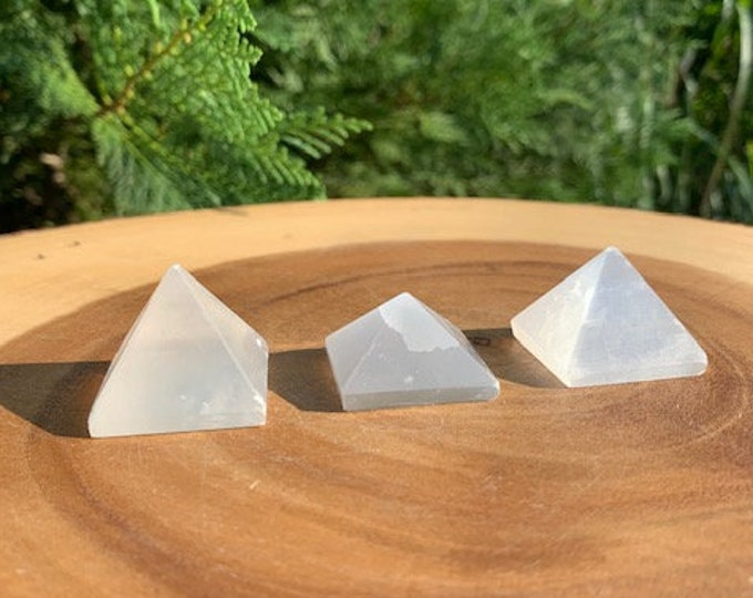 Selenite Pyramid / Peace / Tranquility / Protection