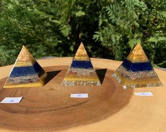 """Orgone Sacred Pyramid """"You Are My Sunshine"""" / Orgone Generator / Orgone Tools / Blocks EMF / Sacred Energy Tools"""
