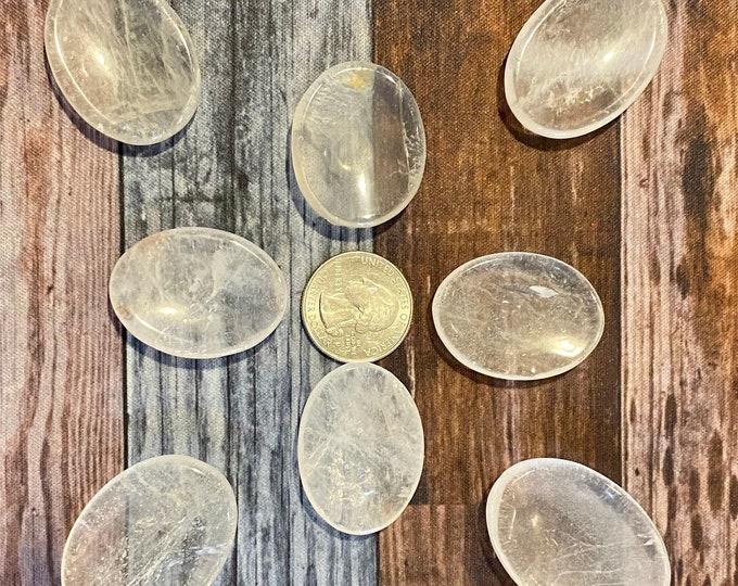Clear Quartz Pocket Stone / Worry Stone / Healing / Enhancing / Amplification