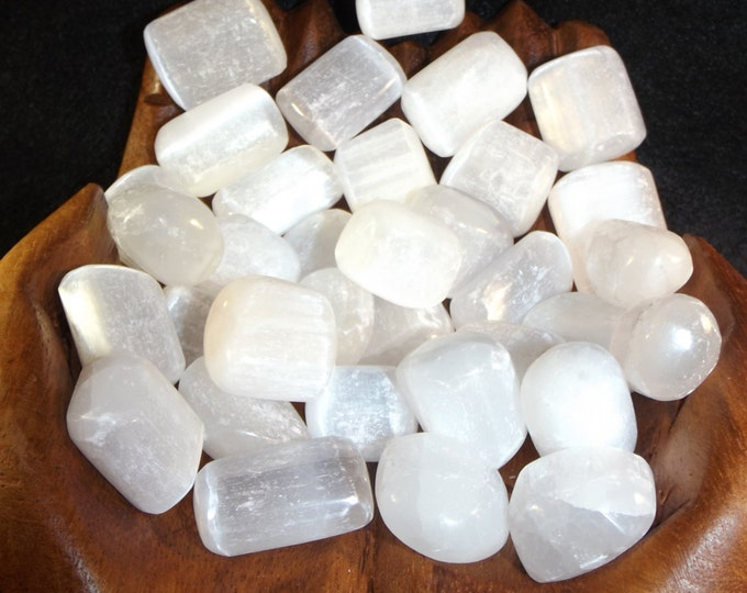 Selenite Tumbled Gemstone  / Tranquility / Peace / Grace / Protection