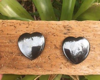Hematite Puffy Heart 45 mm / Protection / Grounding / Detoxifying
