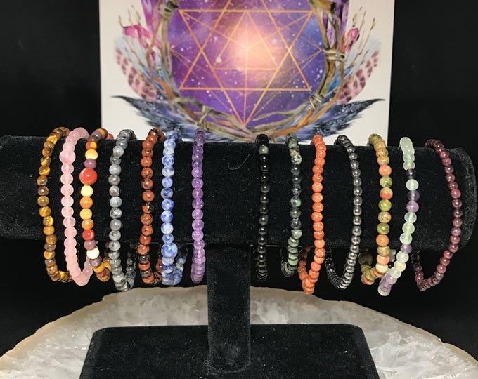 4mm Gemstone Bracelets HQ / Stackable Bracelet / Resize Available Upon Request