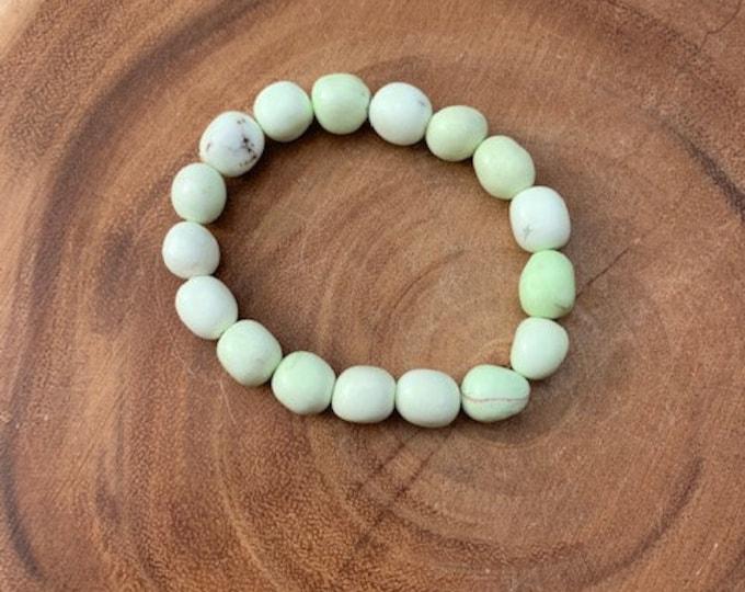 Chrysoprase Bracelet / Lemon Chrysoprase Nugget Bracelet  / Hope / Love / Protection / boho jewelry