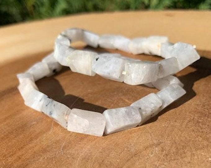 Rainbow Moonstone Bracelet HQ / Intuition / Inspiration / Goddess Energy / Boho Jewelry /