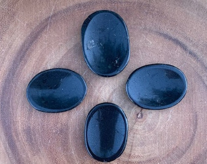 Black Tourmaline Worry Stones / Protection / Self Control / Intuition