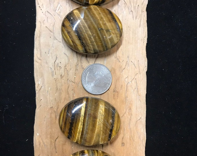 Tigers Eye Worry Stone Palm Stone Happy Stone *FREE Shipping* / Protection / Creativity / Balance