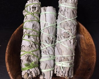 White Sage Smudge Sticks / Ceremony / Rituals / Protection / Cleansing