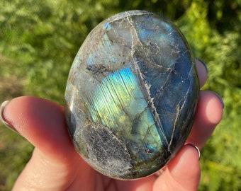 "Labradorite XL Palm Stone ""B""/ Strength / Transformation / Intuition"