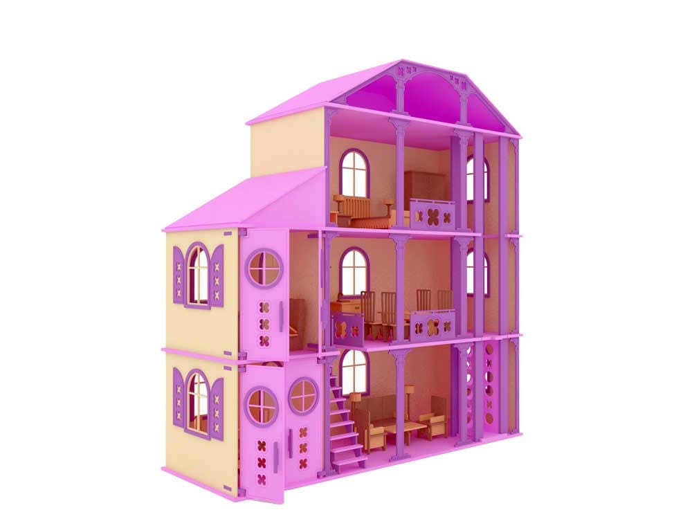 Fantastic Fantasy House Barbie Scale Laser Cnc Router Cutting Pattern Dxf Download Free Architecture Designs Scobabritishbridgeorg