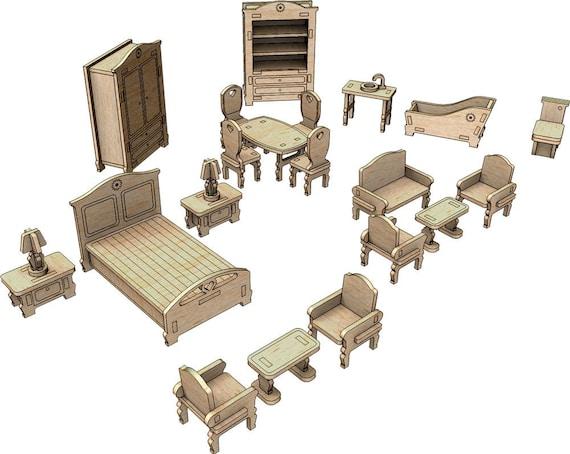Little Princess Dollhouse Furniture Set Two Digital Download Etsy