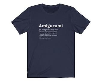 Amigurumi T-shirt, gift for crocheter, Unisex Jersey Short Sleeve Tee