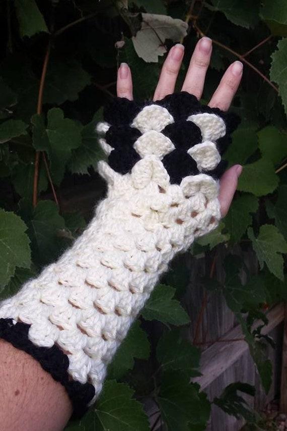 Crochet Pattern Dragon Scale Fingerless Gloves Printable Pdf Etsy