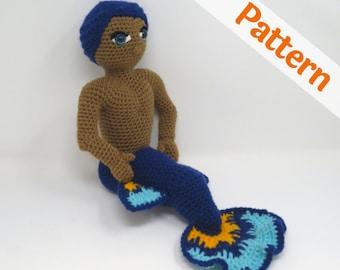 Betta Merman Amigurumi Crochet Pattern